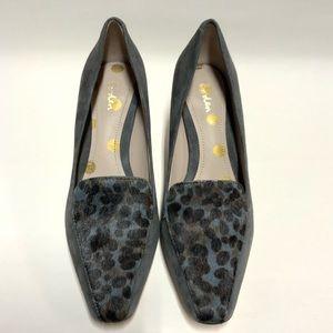 Boden Women's Black/Blue Animal Print Heels